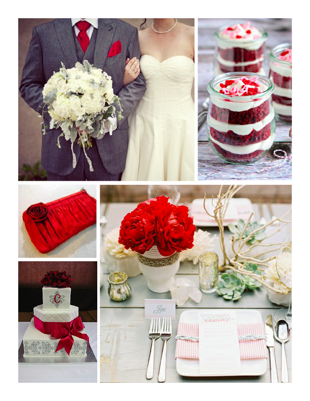 Red  Grey Wedding Inspiration  Wiregrass Weddings