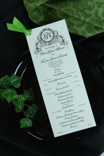 Wedding Program Isabella  Wiregrass Weddings