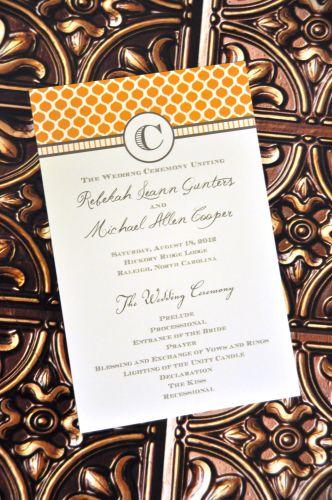 Wedding Program Blair  Wiregrass Weddings