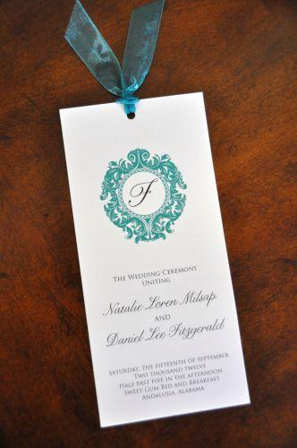 Wedding Program Brooke  Wiregrass Weddings