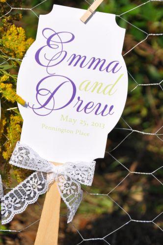Fan Wedding Programs Claire  Wiregrass Weddings