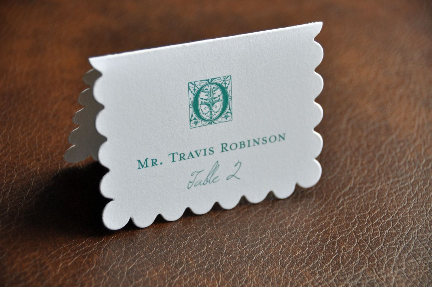 Scalloped Die Cut Place Cards  Wiregrass Weddings