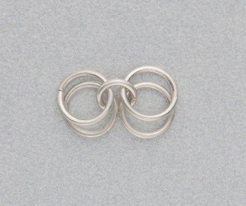 Kylie Jones's Sterling silver chain maille bridal earrings