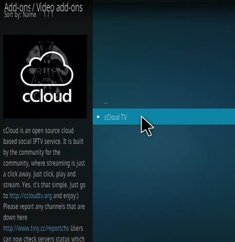 How to Install cCloud Live TV Kodi Addon Step 18