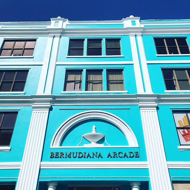 Blue building on a blue sky  day!