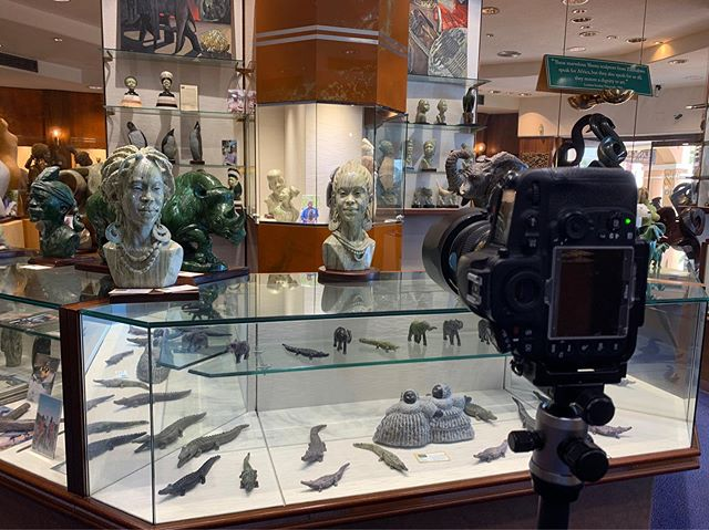 On site at Crisson & Hind Gallery. If you are in Bermuda you really should pop in and see the amazing handmade African sculptures. It is stunning.