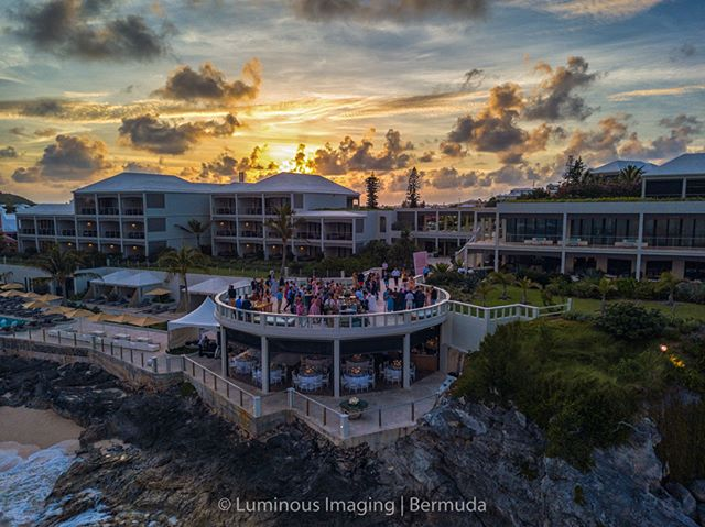 Here's a sunset shot  at the Loren, from one of TWO amazing events @Bermuda.Bride put on last week. We were not able to capture the other one, but how beautiful is this site for an event at @thelorenbermuda