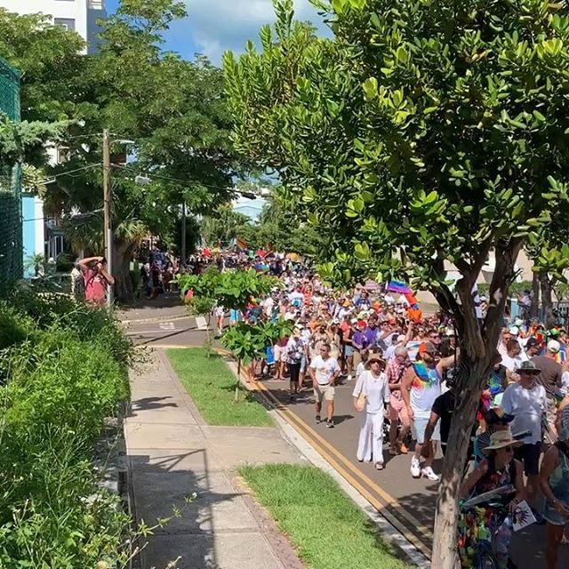Masses of folk turned out for Bermuda's first Pride parade and it was super hot to boot!