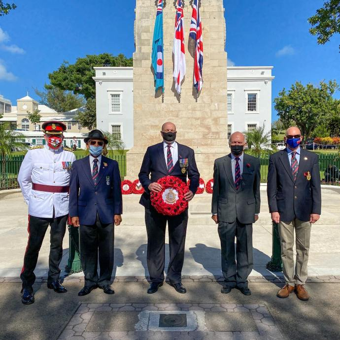 Members of the Royal Bermuda Regiment Association. 2 of my old Officers and Team Mate on the right @beyond_drishti