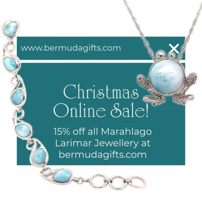 For you last minute shoppers in get down to @crissonjewellersbermuda Order online, pickup in store.   Repost from @crissonjewellersbermuda  ONLINE SALE (EXCLUSIVELY ONLINE)  15% OFF Marahlago ONLINE ONLY at www.bermudagifts.com   Curbside collection available. Shipping to the USA, Canada and the UK available