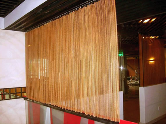 Chain Link Mesh Curtains  Drapery for Architectural
