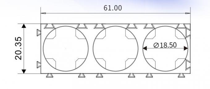 3x1 18650 Li Ion Battery Spacer Holder Bracket_Best custom
