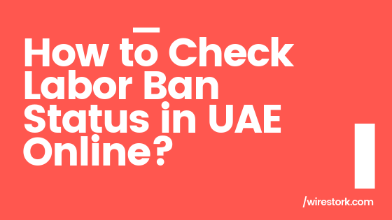 Here,s how to check labour ban in UAE online.