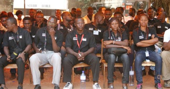 Jóvenes cineastas en el FESPACO 2013. Fuente: Clap Noir