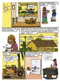 """Una página interior del primer volumen de """"La vie de Pahé"""". Fuente: Editorial Paquet"""