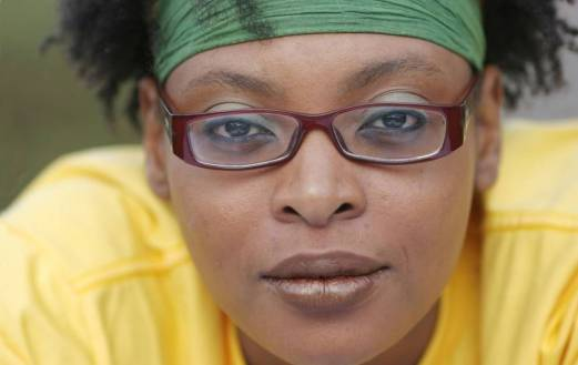 La autora camerunesa Leonora Miana. Foto:  T. Orban Abacapress.