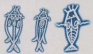 Representaciones Dogón que aluden a la imagen del anfibio