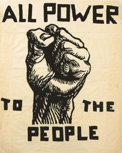 Power to the people. Black Panther arty