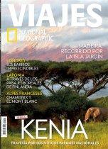 Portada de National Geographic Viajes. Foto de portada Marina Cano en Kenya