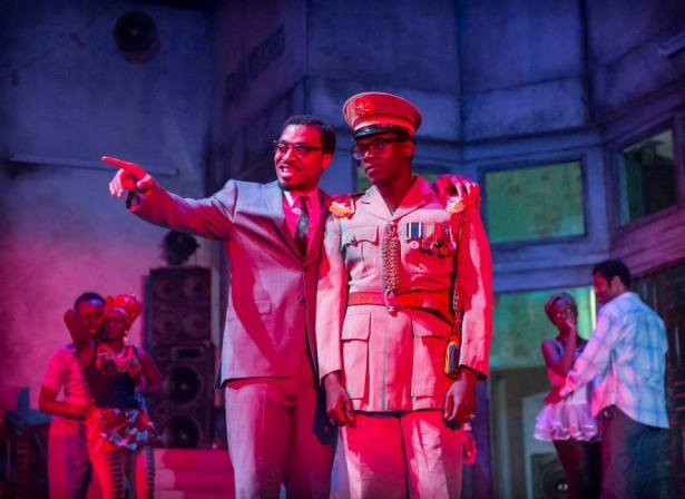 A Season in the Congo – Chiwetel Ejiofor as Patrice Lumumba and Daniel Kaluuya as Joseph Mobutu. Photo by Johan Persson.