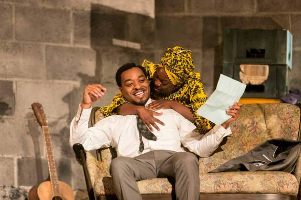 A Season in the Congo - Chiwetel Ejiofor as Patrice Lumumba and Joan Iyiola as Pauline Lumumba. Photo by Johan Persson.