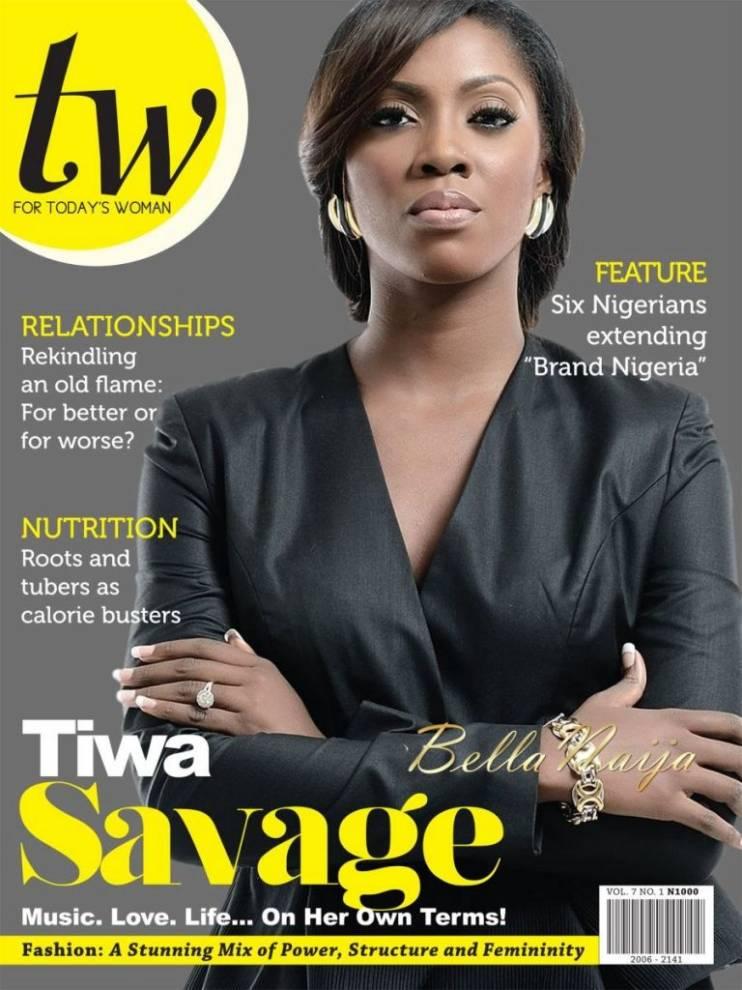 Tiwa Savage en la portada del mes de Octubre del TW Magazine.
