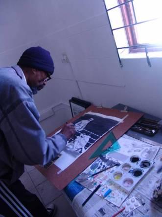 Mogorotshi en su estudio. Fuente: http://mogorosicartoons.blogspot.pt/