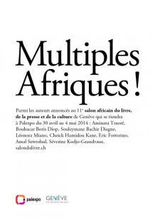Flyer del espacio para la literatura africana del Salón del Libro de Ginebra