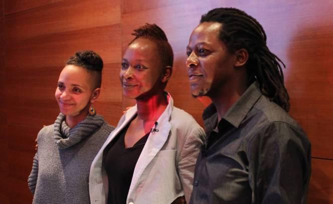 Forum Artist Talk-Koyo Kouohincon vwith artists Miriam Syowia, Kyambiand y James Muriuki