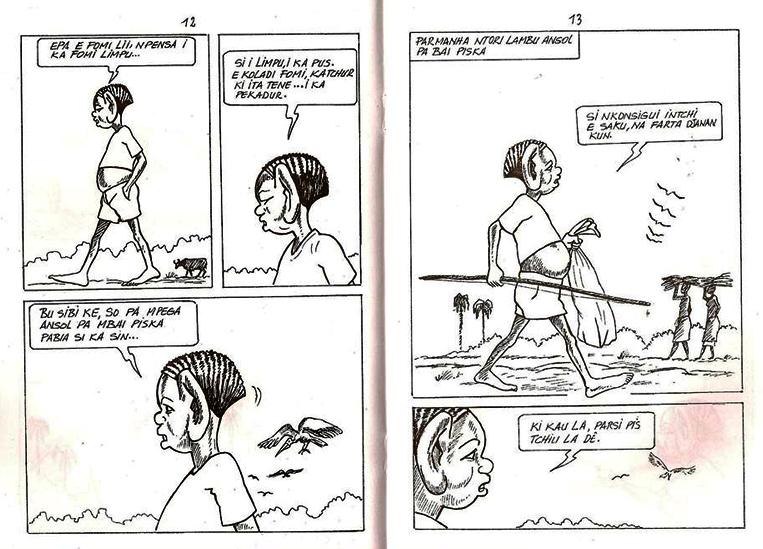 Un ejemplo del estilo de Júlio en uno de los cómics del antihéroe