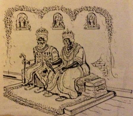 Rey y reina. Extraída del libro. El candombe de Rubén Carámbula
