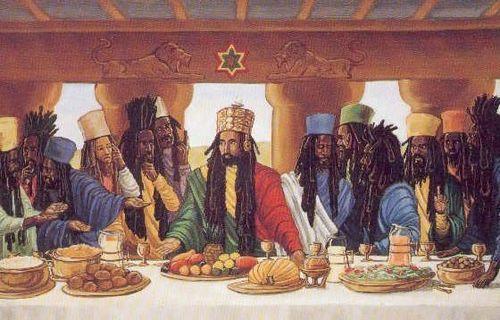 El paisaje bíblico de la última cena, según los rastafaris.