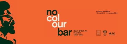 No Colour Bar, póster de la exposición en la Guildhall Art Gallery en Londres.
