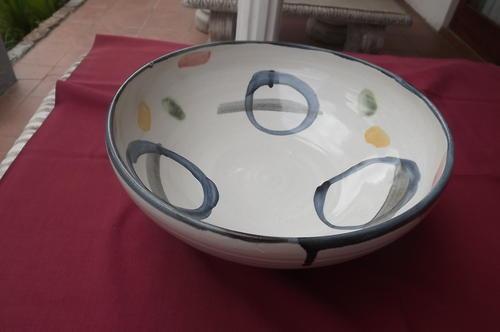 Bol de cerámica típica de Dedza (Malaui).