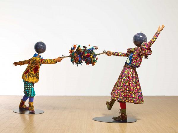 Flower Power Kids (Dueling), Royal Academy (Londres). http://www.yinkashonibarembe.com/resources/content/artwork/2/311/medium_1453214805.jpg