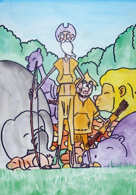 Yossouf Kanté - Los grandes cazadores Don Quijote y Sancho Panza