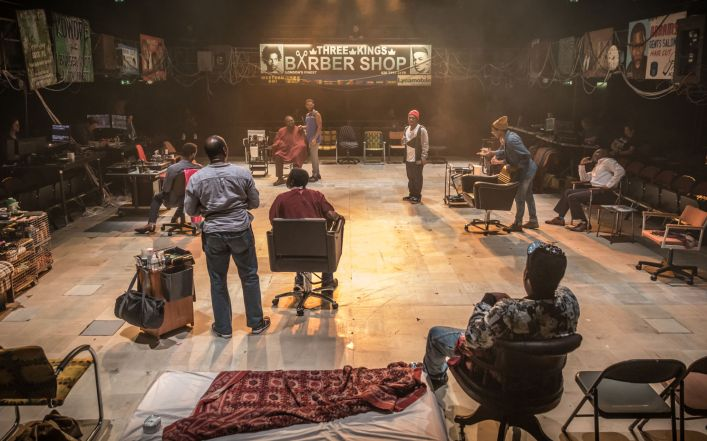 1318 Barber Shop Chronicles at the National Theatre (c) Marc Brenner