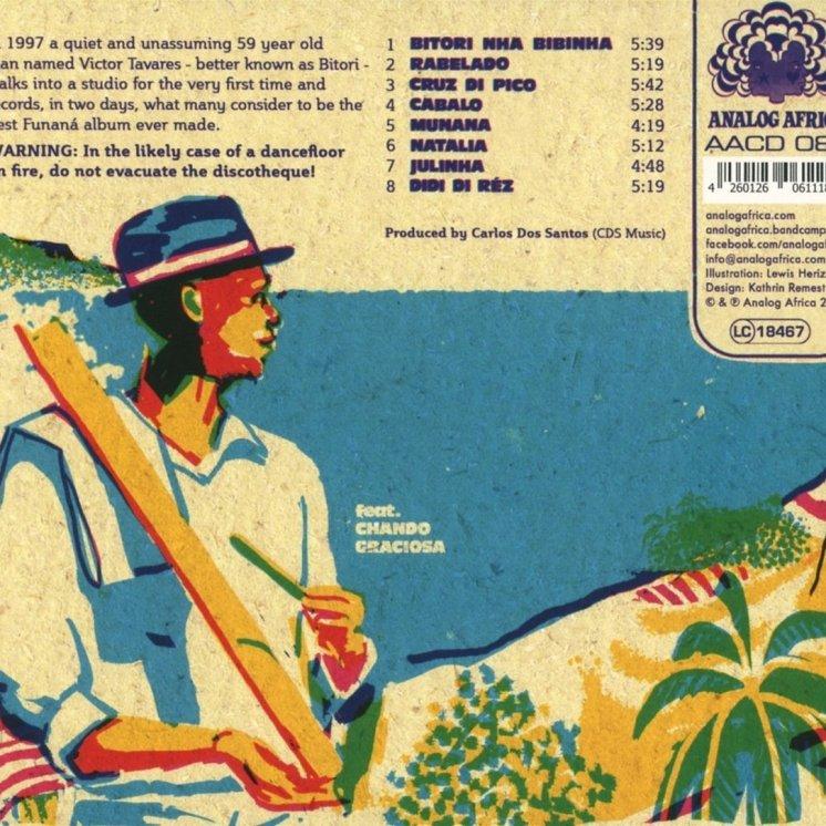 Contraportada del disco Bitori: Legend of Funaná, que editó Analog Africa en 2016.