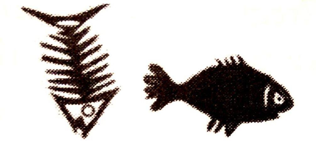 NAM PORƆ A – Cuando el pez se pudre Símbolo de la CORRUPCIÓN EN EL LIDERAZGO Proviene del aforismo: Nam porɔ a, efiri ne ti. Traducción: Cuando el pez se pudre empieza por la cabeza. La corrupción de una sociedad empieza por los líderes de esta.