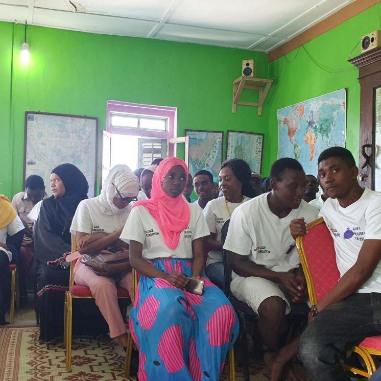 Estudiantes en Kawa Training Centre