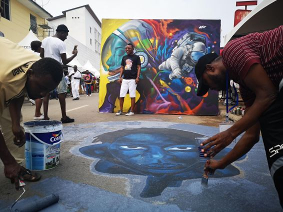 Grafitti en las calles de Jamestown