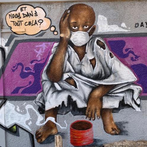 Mural en Dakar realizado por el colectivo RBS Crew.