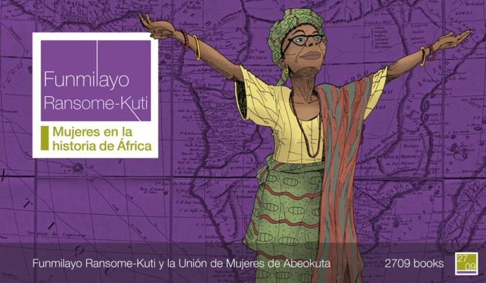 Portada del cómic Funmilayo Ransome-Kuti y la Unión de Mujeres de Abeokuta