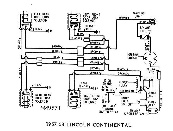 1996 Lincoln Continental Power Window Wiring Diagram