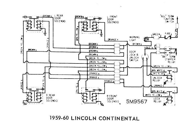 1966 Lincoln Continental Power Window Wiring Diagram, 1966