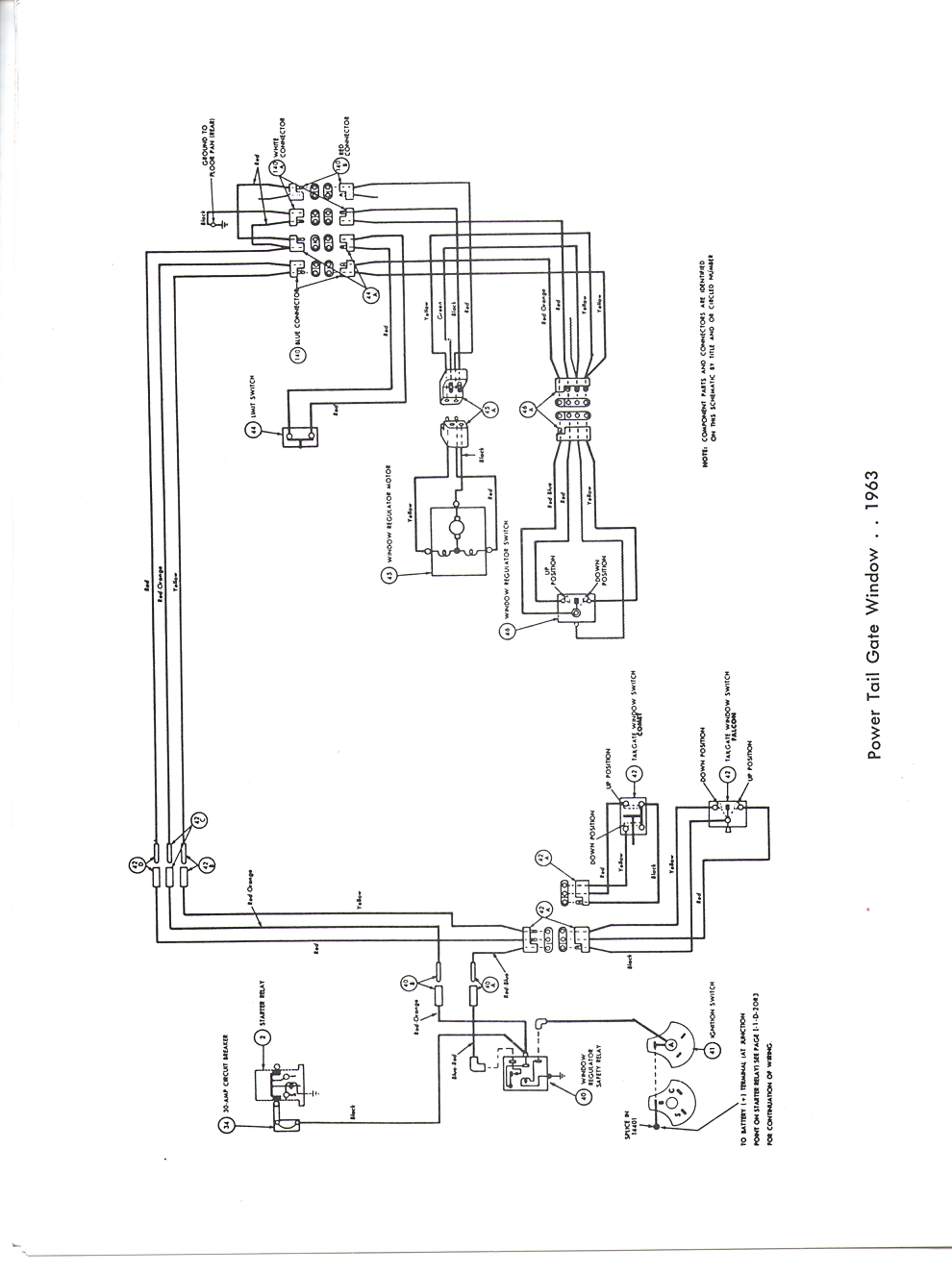 FORD 1963 Falcon Wiring Diagram Manual 63