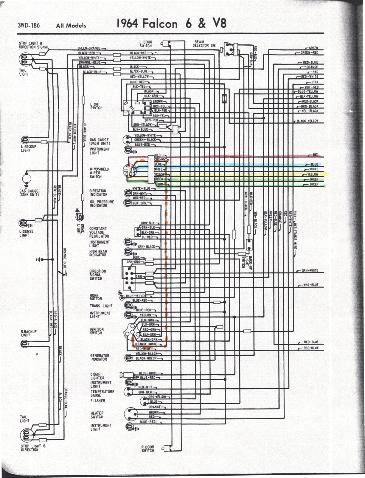 1964 Ford Falcon Wiring - Wiring Diagram M1  Falcon Wiring Diagram Starter Solenoid on