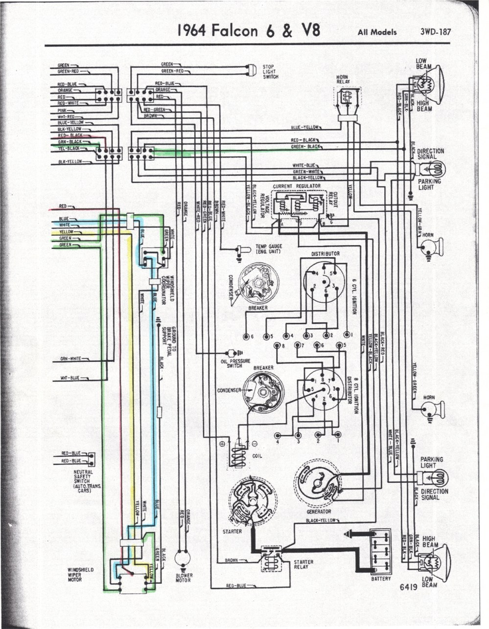 medium resolution of falcon diagrams 1964 corvair wiring diagram 1964 falcon wiring 64 falcon drawing a 64 falcon