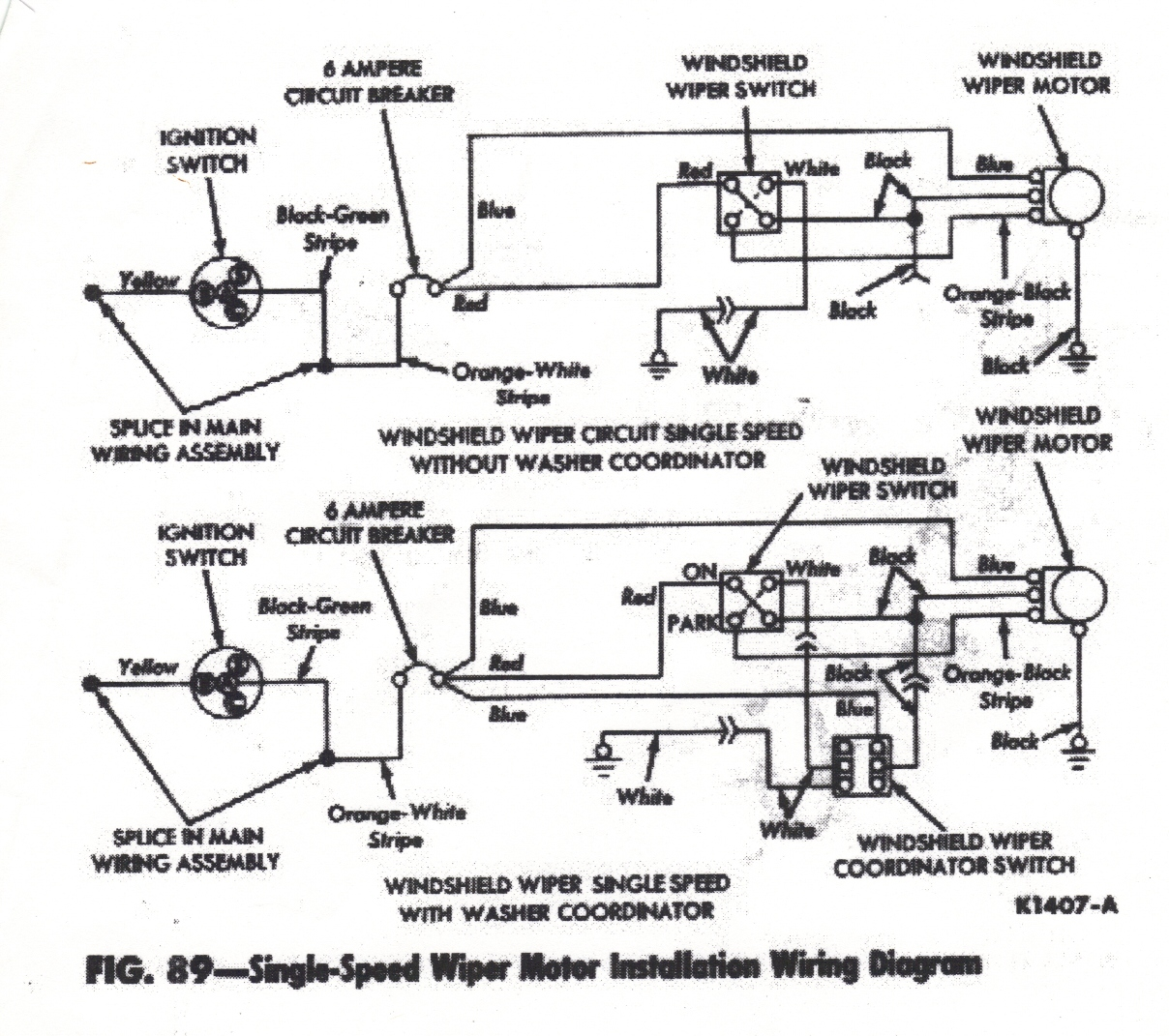 1963 impala wiper motor wiring diagram gm trailer hitch falcon diagrams