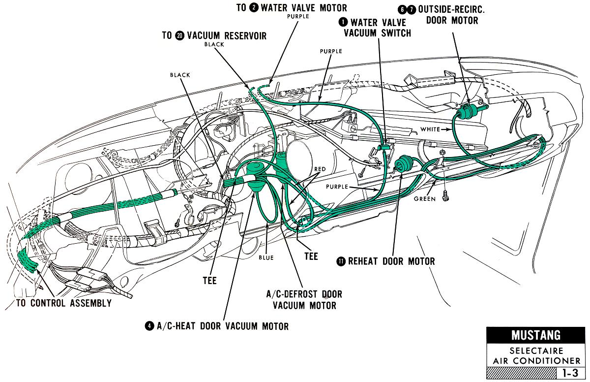 hight resolution of 1968 mustang under dash wiring harness view diagram under dash 1965 mustang dash wire harness wiring
